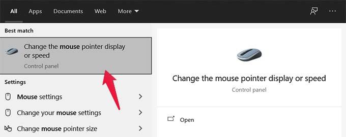 Open Mouse Properties Settings in Windows 10