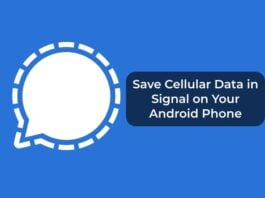 Save Cellular Data in Signal on Your Android Phone