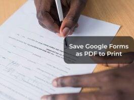 Save Google Forms as PDF to Print