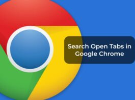 Search Open Tabs in Google Chrome