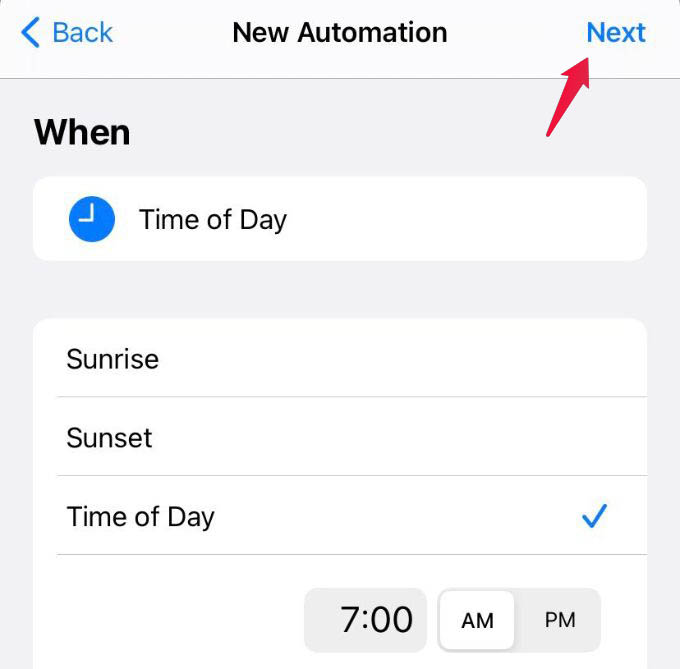 Set Time and Frequency to Run Shortcuts Automation on iPhone