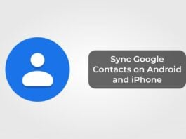 Sync Google Contacts on Android and iPhone