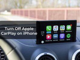 Turn Off Apple CarPlay on iPhone