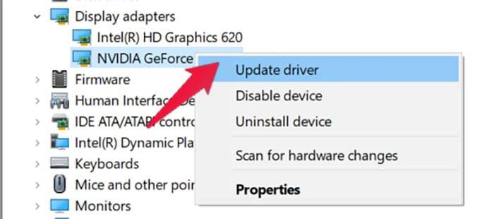 Update Graphics Driver Windows 10