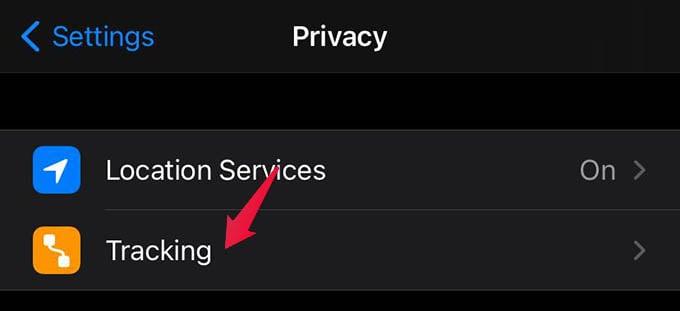 iPhone Tracking Settings