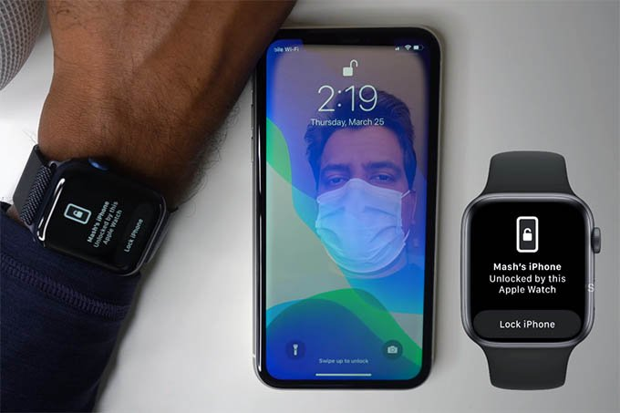 iPhone Unlocked with Apple Watch