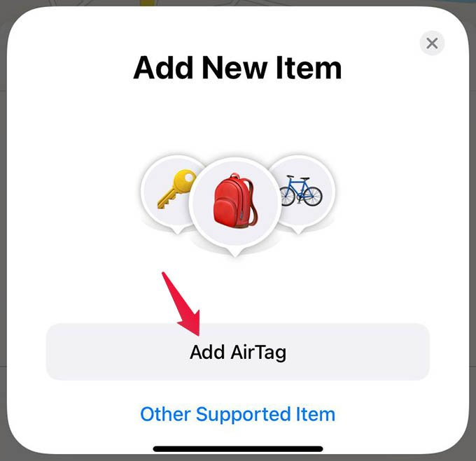 Add AirTag on iPhone from Find My App