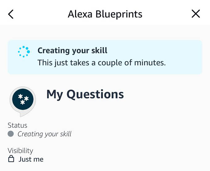 Alexa Blueprints Creating Your Skill