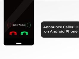 Announce Caller ID on Android Phone