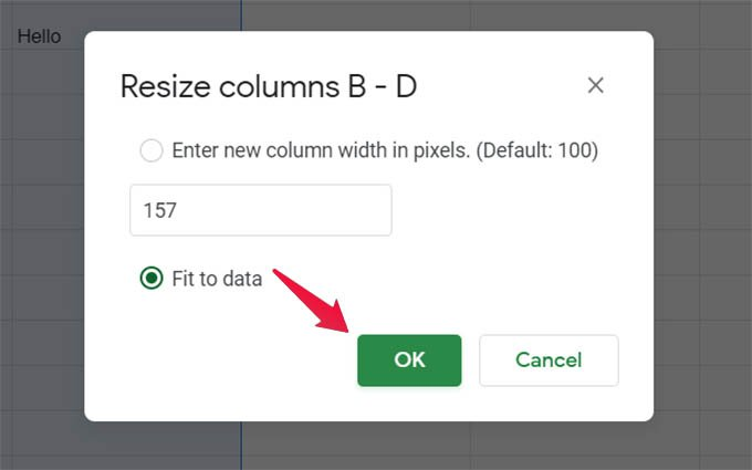 Auto Resize Columns in Google Sheets Fit to Data