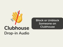 Block or Unblock Someone on Clubhouse