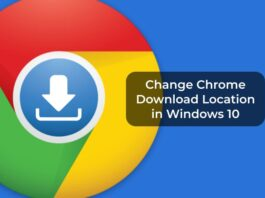 Change Chrome Download Location in Windows 10