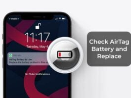 Check AirTag Battery Level and Replace AirTag Low Battery