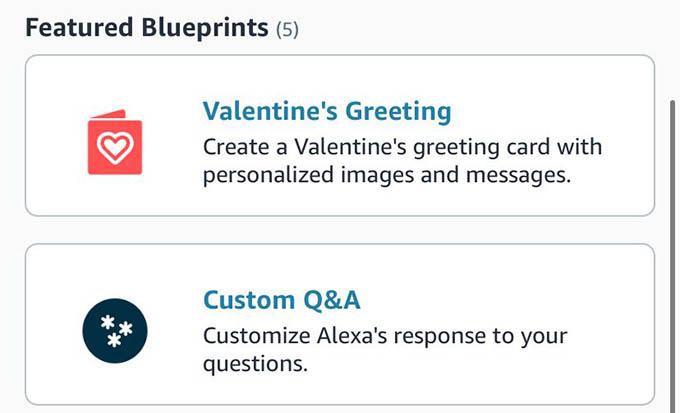 Choose a Blueprint for Custom Alexa Skill