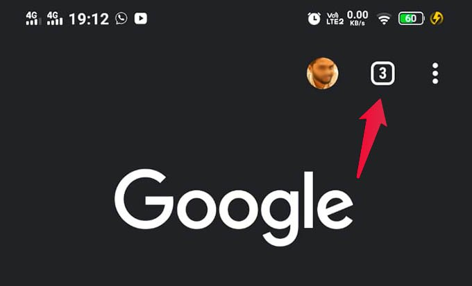 Chrome Tab Switcher on Android