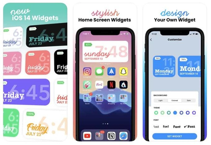 color widgets custom iOS 14 widgets app