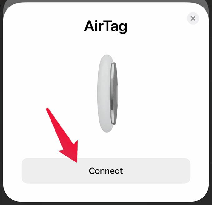 Connect Apple AirTag with iPhone