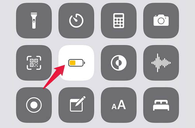 Disable Low Power Mode on iPhone from Control Center