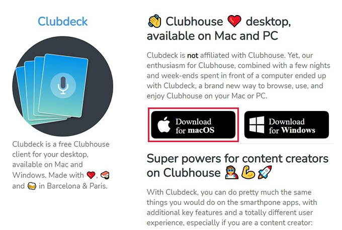 Download Clubdeck for Mac