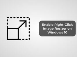 Enable Right-Click Image Resizer on Windows 10