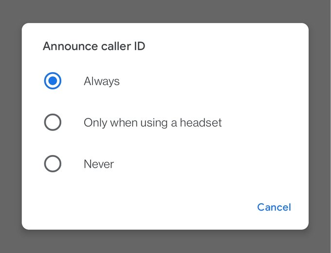Enable caller ID announcement on Google Phone on Android