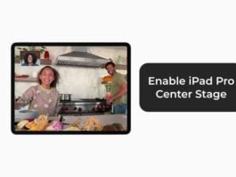 Enable iPad Pro Center Stage