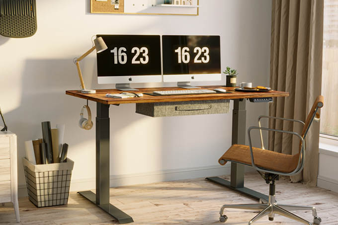 FEZIBO Electric Height Adjustable Standing Desk