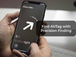 Find AirTag with Precision Finding