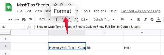 Format Cells in Google Sheets