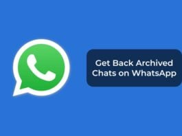 Get Back Archived Chats on WhatsApp