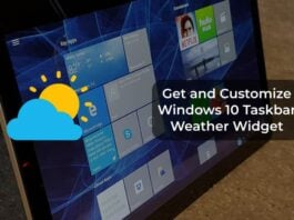 Get and Customize Windows 10 Taskbar Weather Widget