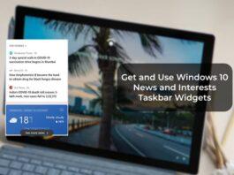 Get and Use Windows 10 News and Interests Taskbar Widgets