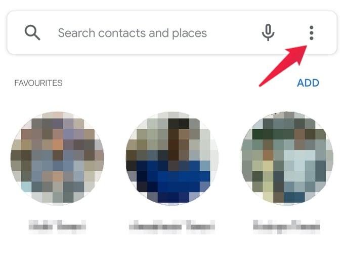Google Phone favorites