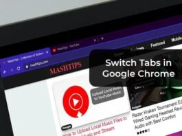Switch Tabs in Google Chrome