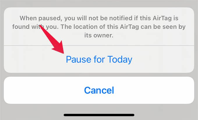 Pause AirTag Alerts for One Day
