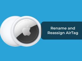 Rename and Reassign AirTag
