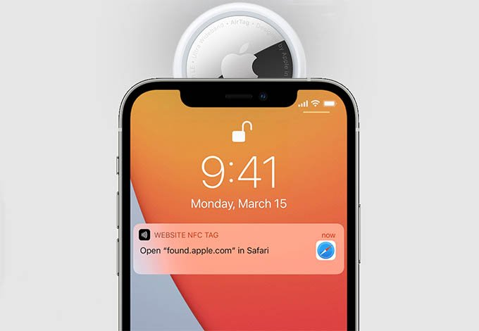 Scan Lost AirTag on iPhone with NFC