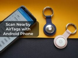 Scan Nearby AirTags with Android Phone