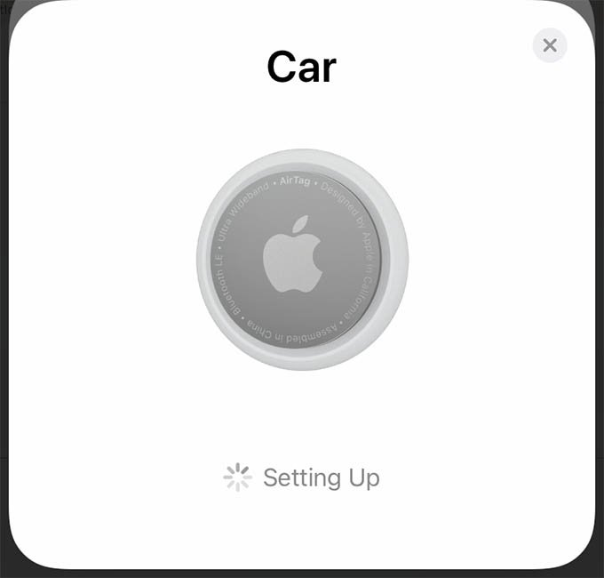 Setting Up AirTag on iPhone