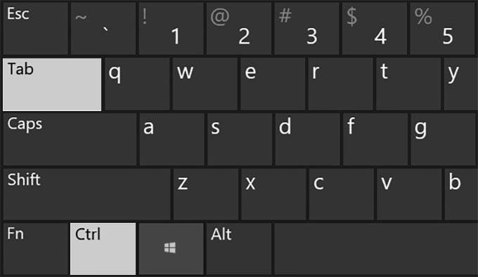 Switch Tabs in Chrome Windows 10 Next Tab