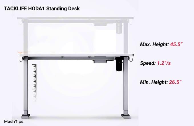 TackLife Standing Desk Speed