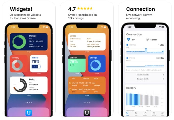 useful system activity widgets for iPhone