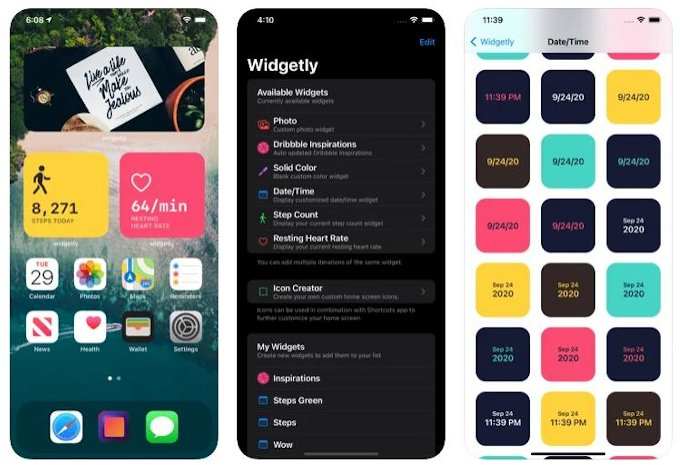Widgetly useful iPhone widgets