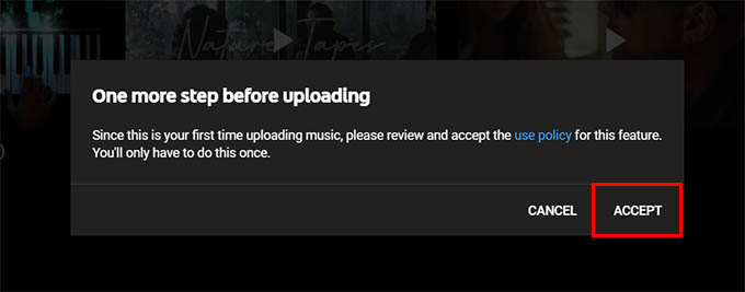 YouTube Music Upload Use Policy