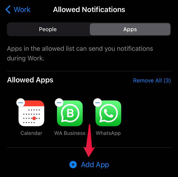 Add App to Allowed Notifications on Focus