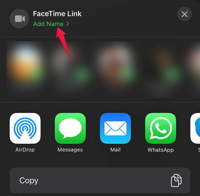 Add Name to FaceTime Link on iPhone