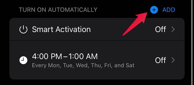 Add New Automation to Focus Mode on iPhone