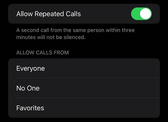 Allow or Block Phone Calls During Focus Mode