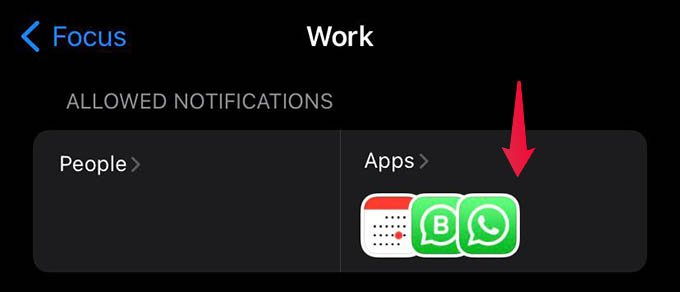 Allowed Notifications from Apps