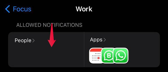 Allowed Notifications from People